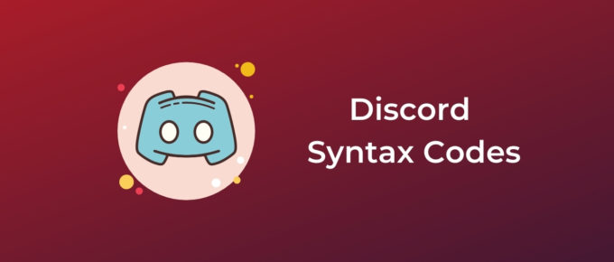 Discord Syntax Codes